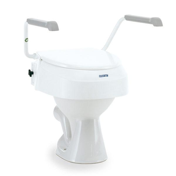 Toilettensitzerhöhung mit Armlehnen, rialzo per wc con braccioli, Aquatec
