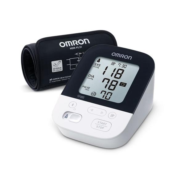 Blutdruckmessgerät, Omron, Intelli, Oberarm-Blutdruckmessgerät, Sfigomanometro, misuratore di pressione