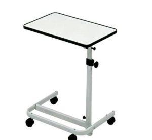 Beistell-Tisch, weiß, tavolo da letto, bianco, Russka, Feststellbremsen, kippbar, höhenverstellbar