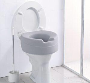 Toilettensitzerhöhung Soft, ohne Deckel, weiche Sitzfläche, rialzo per wc soft, Russka
